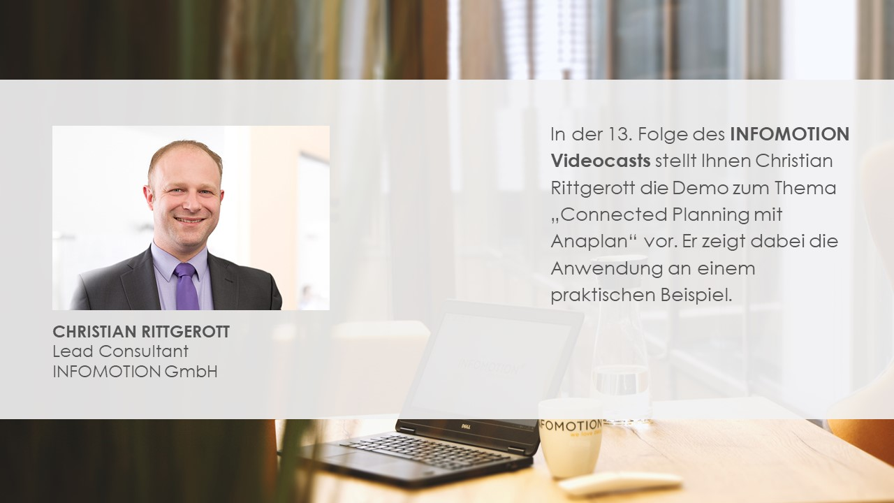 Connected Planning mit Anaplan - Demo